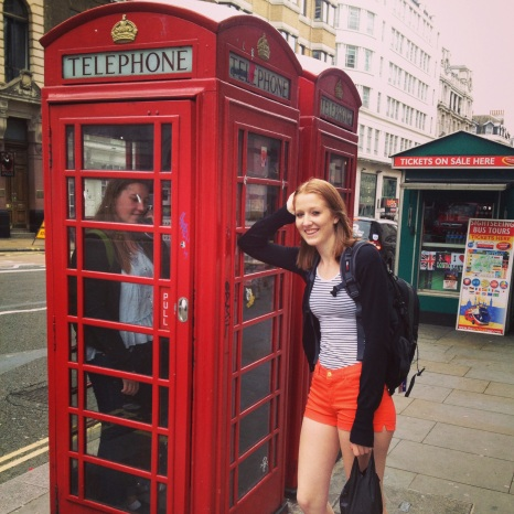 Sally pretending to be a Londoner - MissMaps.com Featured Female Traveler