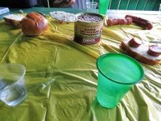 That's it - sausage bread vodka and kacha? - National Park Belovezhskaya Pushcha - by Anika Mikkelson - Miss Maps - www.MissMaps.com