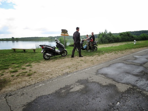 The Moped Crew - National Park Belovezhskaya Pushcha - by Anika Mikkelson - Miss Maps - www.MissMaps.com