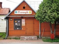 Where they sell the most cinnamony cinnamon buns in Bialowieza Poland - National Park Belovezhskaya Pushcha - by Anika Mikkelson - Miss Maps - www.MissMaps.com