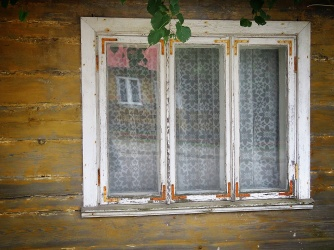 Worn Windows of Bialowieza Poland - National Park Belovezhskaya Pushcha - by Anika Mikkelson - Miss Maps - www.MissMaps.com