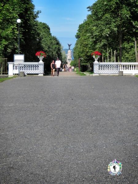 A couple walking near the Presidential Palace - Tallinn Estonia - by Anika Mikkelson - Miss Maps - www.MissMaps.com