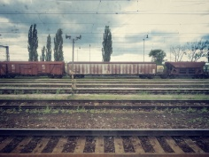 A Train from the Window - On the Train to Ukraine - by Anika Mikkelson - Miss Maps - www.MissMaps.com