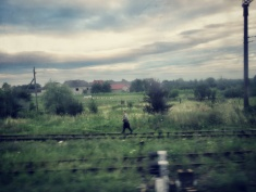 A view from my window: Running on the Tracks between Chop Ukraine and Zahony Hungary - by Anika Mikkelson - Miss Maps - www.MissMaps.com