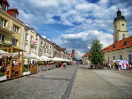 A warm July Day Downtown - Bialystok Poland - by Anika Mikkelson - Miss Maps - www.MissMaps.com