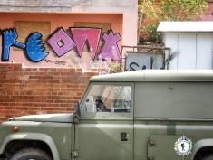 Army Green Truck and Playful Graffitti - Tallinn Estonia - by Anika Mikkelson - Miss Maps - www.MissMaps.com