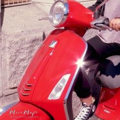 Bright Red Moped - Helsinki Finland - by Anika Mikkelson - Miss Maps - www.MissMaps.com