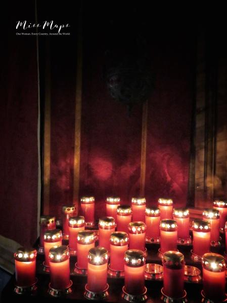 Candles of Carmelite Church - Medina - Malta - by Anika Mikkelson - Miss Maps - www.MissMaps.com