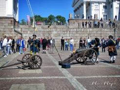 Cannons for Graduation - Helsinki Finland - by Anika Mikkelson - Miss Maps - www.MissMaps.com