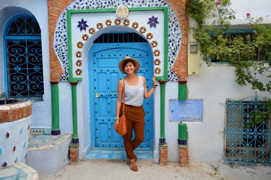 Cassandra in Chefchaouen, Morocco - MissMaps.com Featured Female Traveler