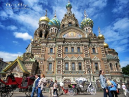 Church of the Spilled Blood and Horse Carriage - St Petersburg Russia - by Anika Mikkelson - Miss Maps - www.MissMaps.com