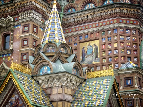 Church on Spilled Blood Close U - St Petersburg Russia - by Anika Mikkelson - Miss Maps - www.MissMaps.com