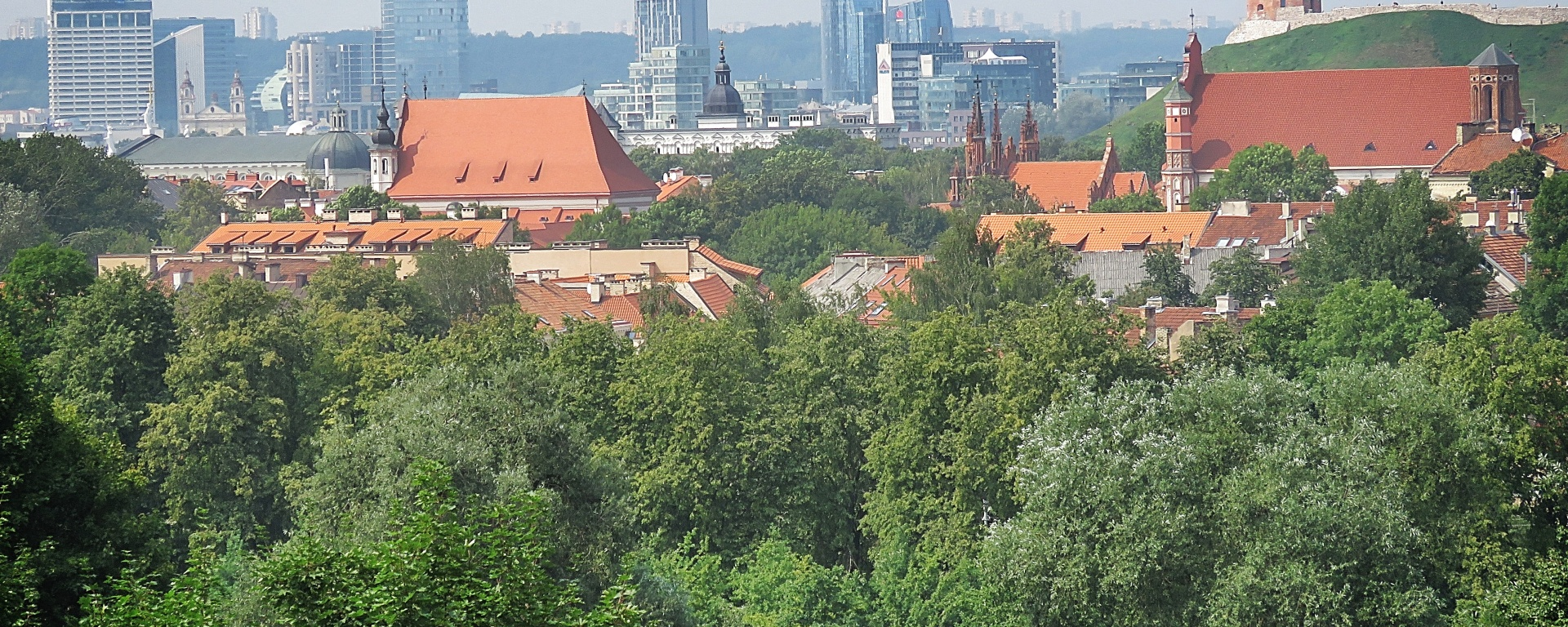City from a Distance - Villnius Lithuania - by Anika Mikkelson - Miss Maps - www.MissMaps.com