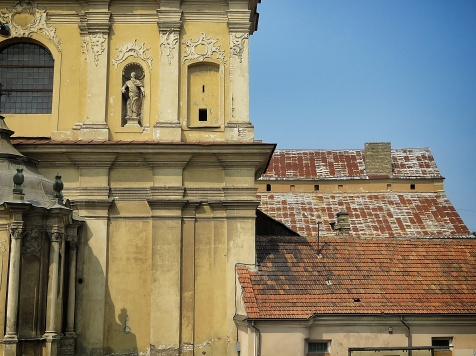 Close Up of Church of the Ascension - Vilnius Lithuania - by Anika Mikkelson - Miss Maps - www.MissMaps.com