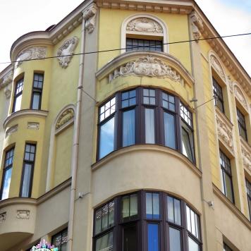 Corners and Roofs - Riga Latvia - by Anika Mikkelson - Miss Maps - www.MissMaps.com