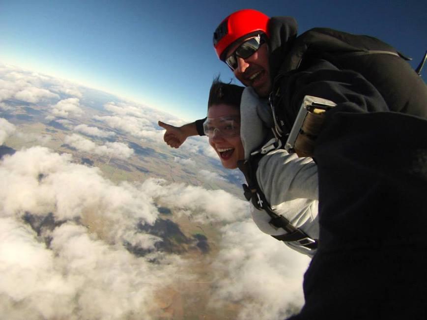 Courtney Skydiving in Australia - www.MissMaps.com Featured Female Traveler