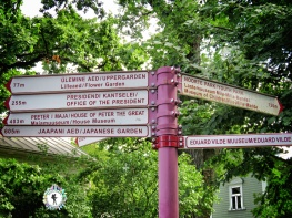 Directions at the City Garden - Tallinn Estonia - by Anika Mikkelson - Miss Maps - www.MissMaps.com