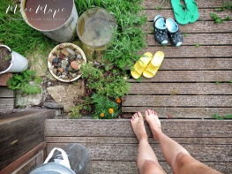 Dirty toes and legs from gardening - Northern Estonia - by Anika Mikkelson - Miss Maps - www.MissMaps.com