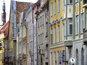 Facades of Old Town - Tallinn Estonia - by Anika Mikkelson - Miss Maps - www.MissMaps.com
