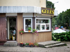 Flower Shops and Bus Stops - Villnius Lithuania - by Anika Mikkelson - Miss Maps - www.MissMaps.com