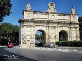 Gates into Valletta - Malta - by Anika Mikkelson - Miss Maps - www.MissMaps.com