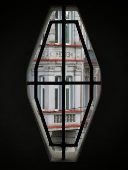 Ginzburg House Windows from a window - Bialystok Poland - by Anika Mikkelson - Miss Maps - www.MissMaps.com
