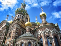 Golden Domes of Church of the Spilled Blood - St Petersburg Russia - by Anika Mikkelson - Miss Maps - www.MissMaps.com