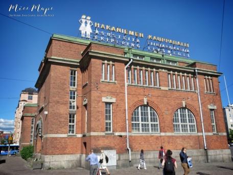 Hakaniemen Kauppahalli Market Hall - Helsinki Finland - by Anika Mikkelson - Miss Maps - www.MissMaps.com