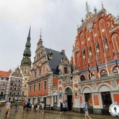 House of Blackheads and surrounding square - Riga Latvia - by Anika Mikkelson - Miss Maps - www.MissMaps.com