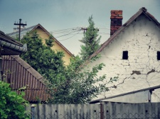 House Tops of Zahony Hungary - by Anika Mikkelson - Miss Maps - www.MissMaps.com