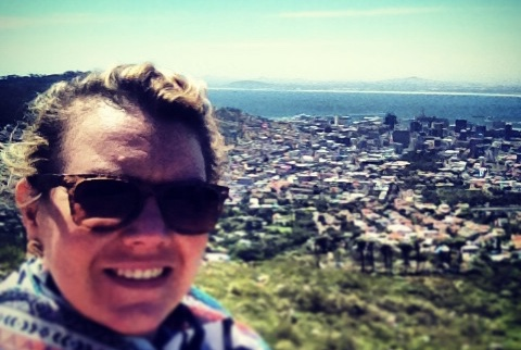 Lottie in Cape Town - Photo provided by Lottie Reeves - MissMaps.com Featured Female Traveler