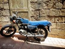 Motorbike in the Alleyway - Malta - by Anika Mikkelson - Miss Maps - www.MissMaps.com