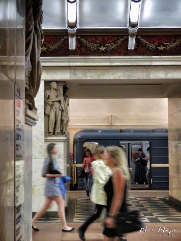 Movimiento - St Petersburg Russia Underground Metro - by Anika Mikkelson - Miss Maps - www.MissMaps.com
