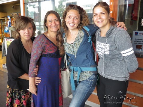 No makeup no cares - with my hosts and the other volunteer - Northern Estonia - by Anika Mikkelson - Miss Maps - www.MissMaps.com
