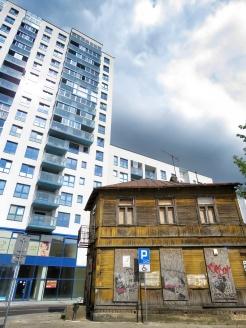 Old Meets New - Bialystok Poland - by Anika Mikkelson - Miss Maps - www.MissMaps.com