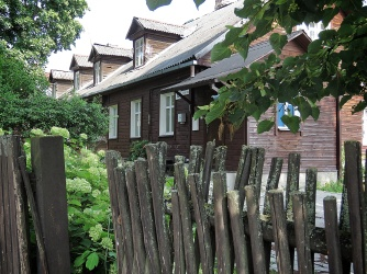 Old Wooden Houses - Villnius Lithuania - by Anika Mikkelson - Miss Maps - www.MissMaps.com