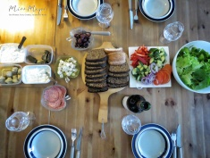 Our first night's dinner table - Helsinki Finland - by Anika Mikkelson - Miss Maps - www.MissMaps.com