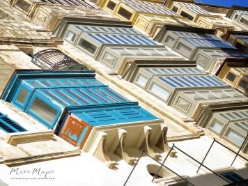 Porches of Valletta - Malta - by Anika Mikkelson - Miss Maps - www.MissMaps.com