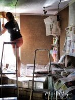 Professional painters at work - Northern Estonia - by Anika Mikkelson - Miss Maps - www.MissMaps.com