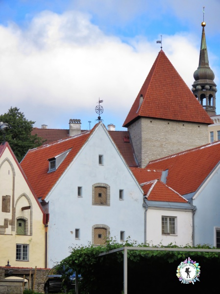 Red Roofs of Old Town - Tallinn Estonia -by Anika Mikkelson - Miss Maps - www.MissMaps.com