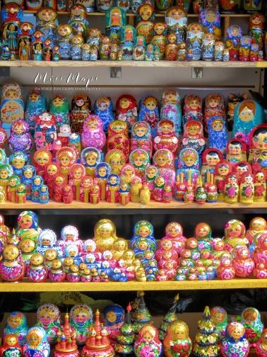 Russian Nesting Dolls - St Petersburg Russia - by Anika Mikkelson - Miss Maps - www.MissMaps.com