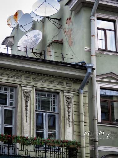 Satellites - St Petersburg Russia - by Anika Mikkelson - Miss Maps - www.MissMaps.com
