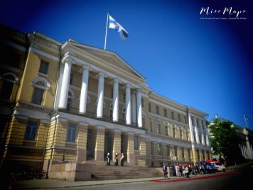 Senate Building - Helsinki Finland - by Anika Mikkelson - Miss Maps - www.MissMaps.com
