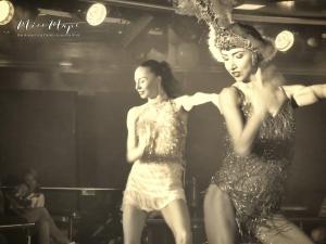 Sepia Dancers - Cruise Helsinki to St Petersburg - by Anika Mikkelson - Miss Maps - www.MissMaps.com