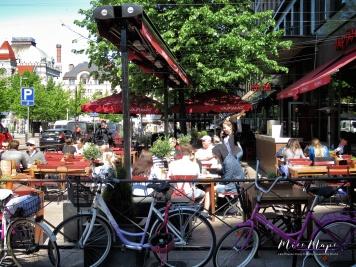 Sidewalk Cafe - Helsinki Finland - by Anika Mikkelson - Miss Maps - www.MissMaps.com