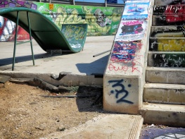 Skate Park in the Middle of an intersection - Malta - by Anika Mikkelson - Miss Maps - www.MissMaps.com