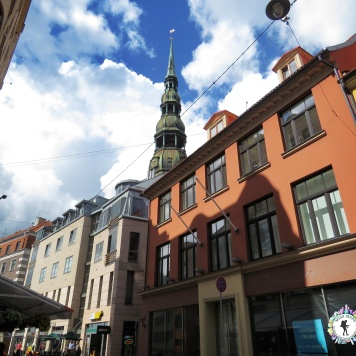 Spires Spires Everywhere - and a Subway - Riga Latvia - by Anika Mikkelson - Miss Maps - www.MissMaps.com