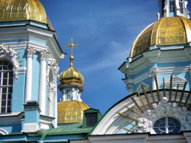 St Nicholas Cathedral Close Up - St Petersburg Russia - by Anika Mikkelson - Miss Maps - www.MissMaps.com