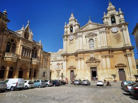 St Paul's Cathedral - Mdina - Malta - by Anika Mikkelson - Miss Maps - www.MissMaps.com