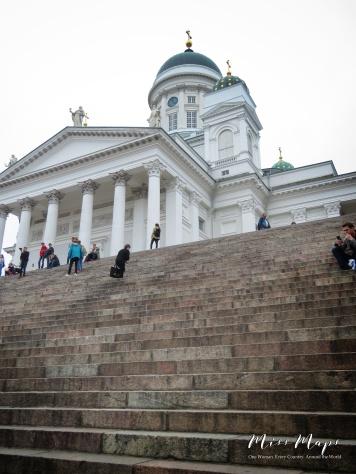 Steps of Helsinki Cathedral - Helsinki Finland - by Anika Mikkelson - Miss Maps - www.MissMaps.com